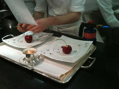 Laurent Jeannin à l'Hôtel Bristol. Dessert Cerises