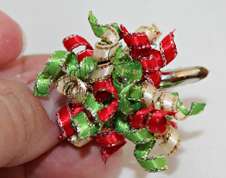 Christmas ggld rimed mini korker bow