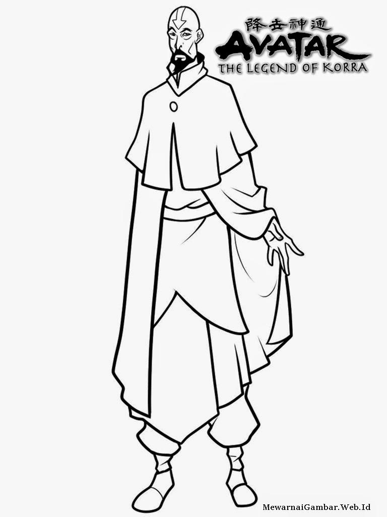 gambar the legend of korra untuk diwarnai