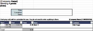 Download Adjustable meeting agenda templates, models, excel