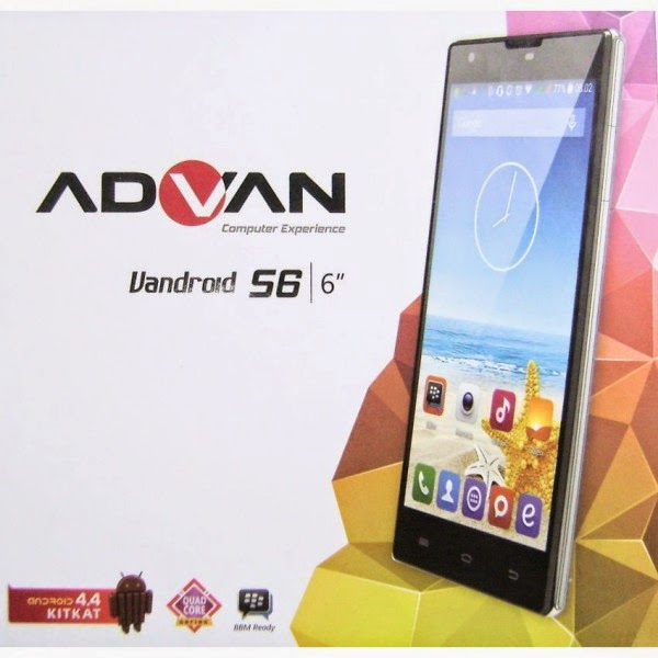 Advan Vandroid S6, Spesifikasi HP Terbaru Advan Harga 2,1 Juta