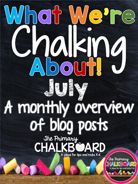 What We're Chalking About JULY: A Visual Calendar