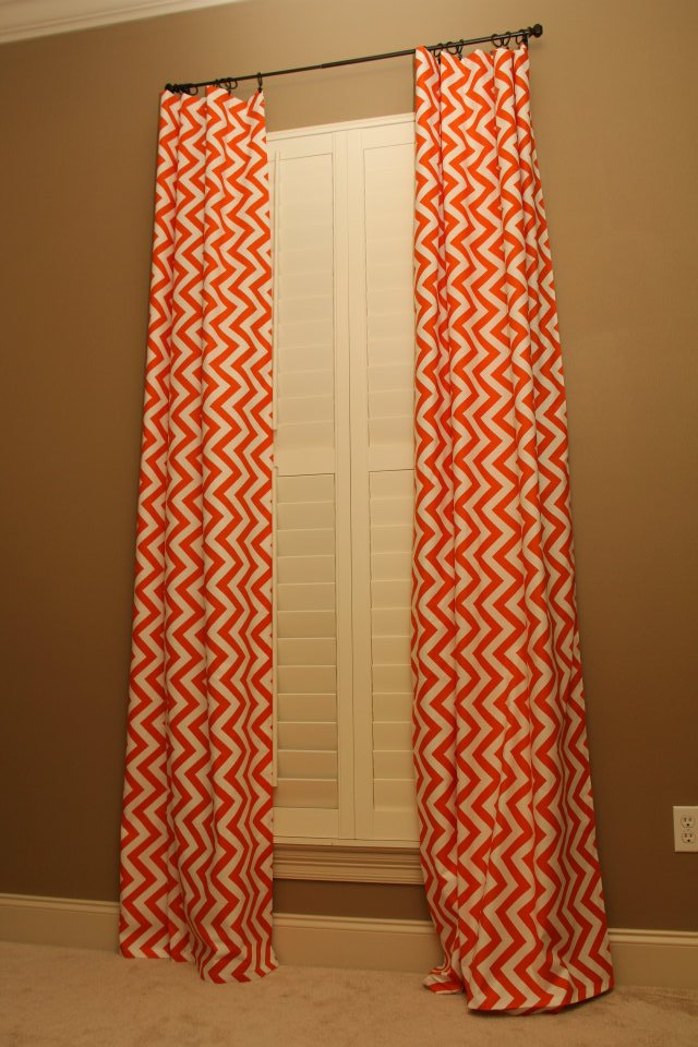 Featured friend natalie 39 s nursery unskinny boppy - Curtains with orange walls ...