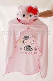 Jubah Mandi Anak Hello Kitty