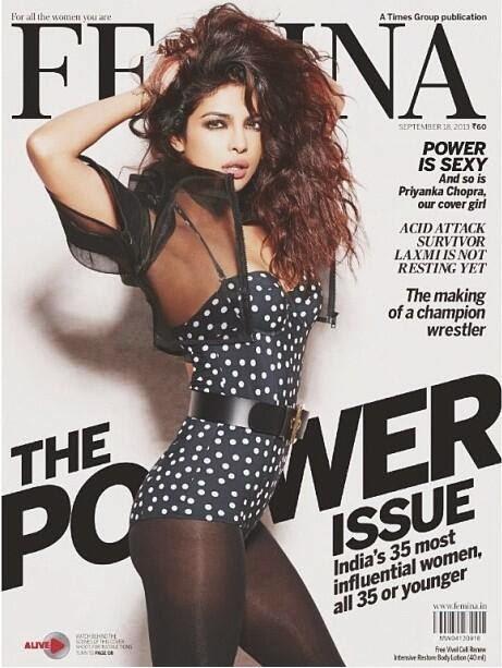 Priyanka-Chopra-in-polka-dot-bikini-Femina-magazine-cover-page