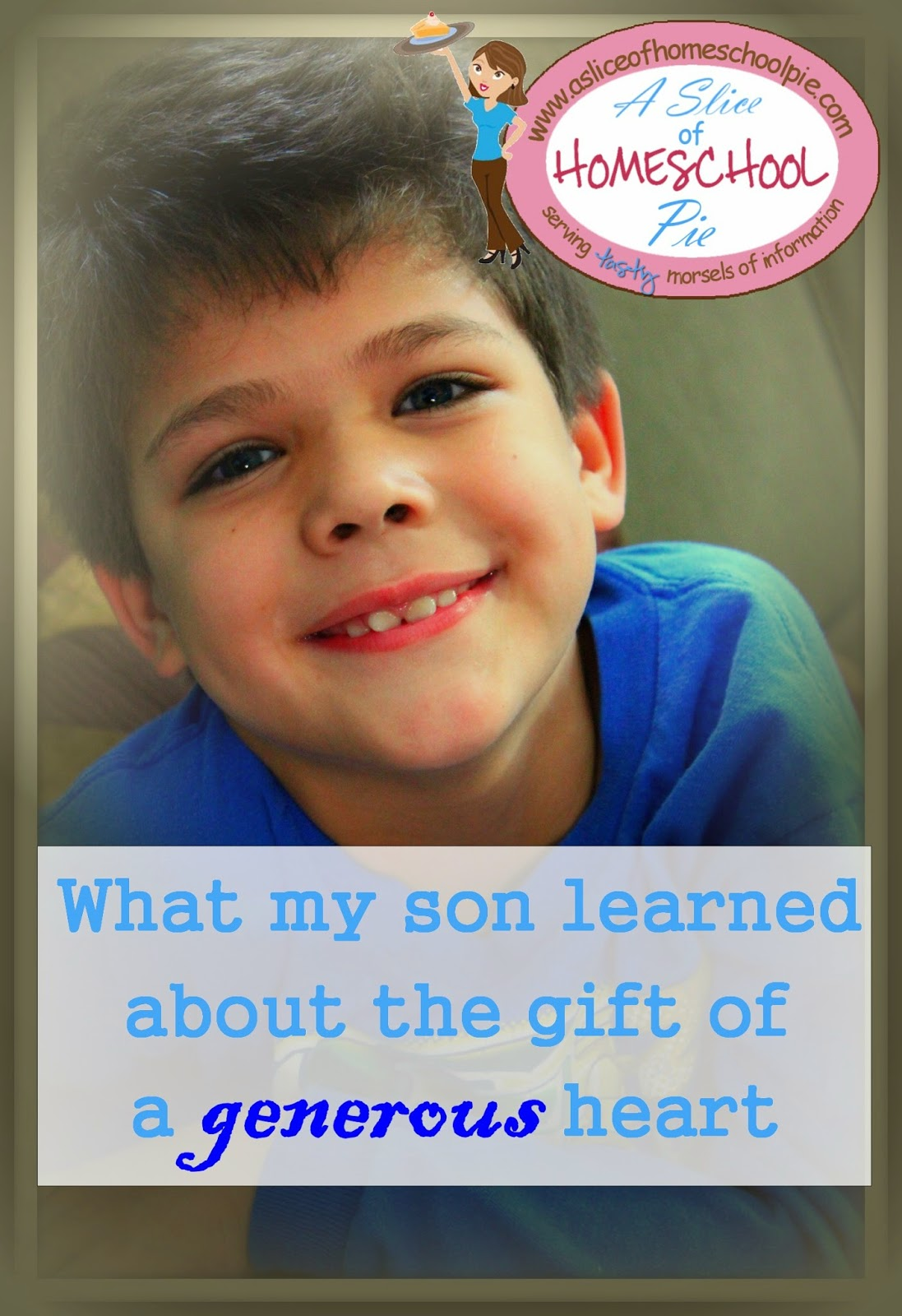 An article about the generosity of a young boy and the lesson he learned from it. By ASliceOfHomeschoolPie.com #raisingboys #charactertraining