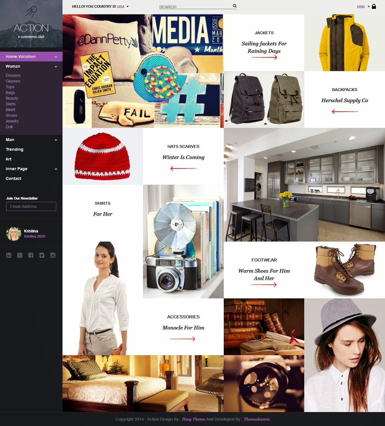 Responsive eCommerce HTML Template