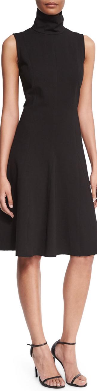 Josie Natori Sleeveless Fit-&-Flare Dress