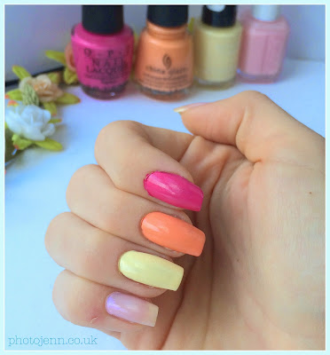 nailbox-opi-kiss-me-on-my-tulips-china-glaze-peachy-keen-revlon-buttercup-essie-muchi-muchi