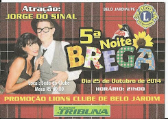 25.10.2014  5ª NOITE DO BREGA NO LIONS CLUBE DE BELO JARDIM/PE