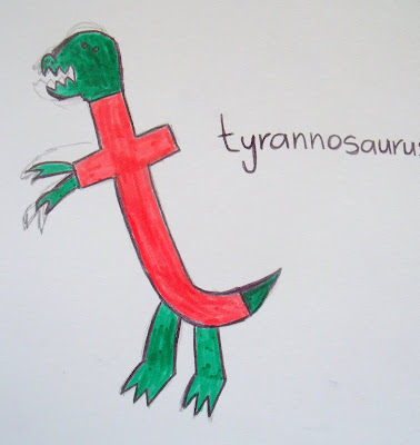 t is for t-rex preschool activity