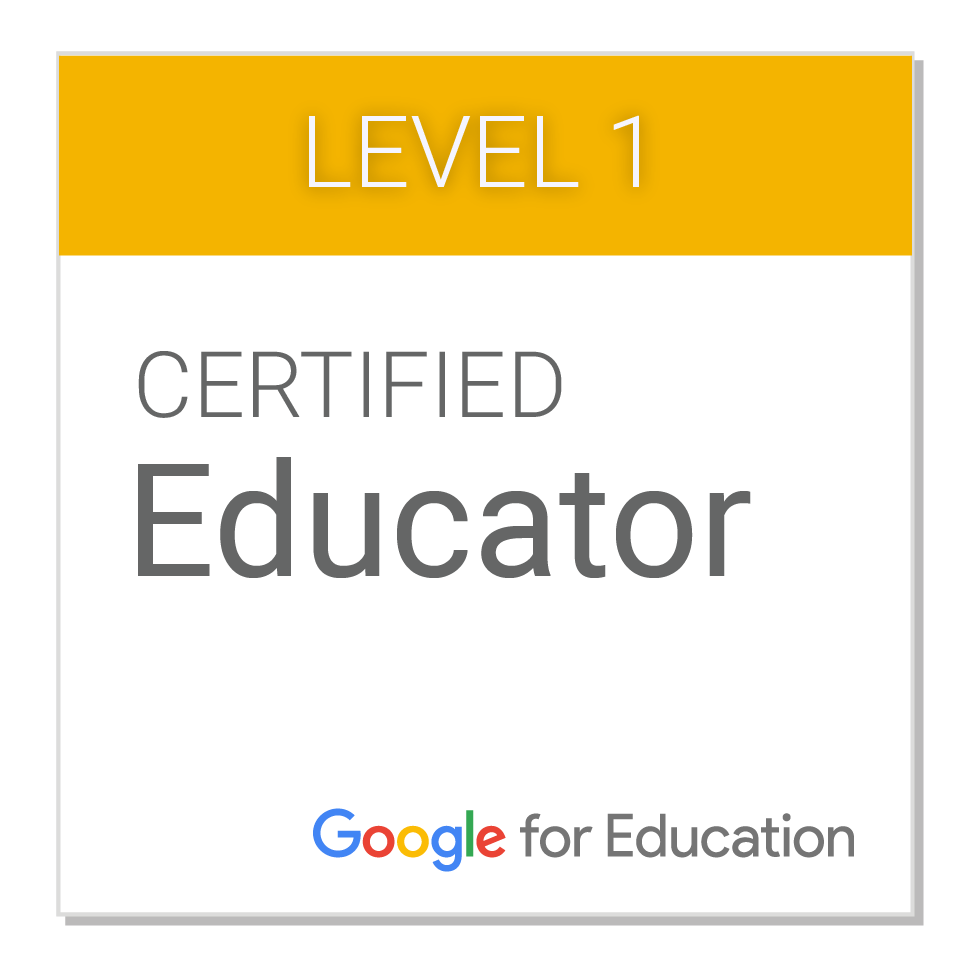 Certified Google Educator