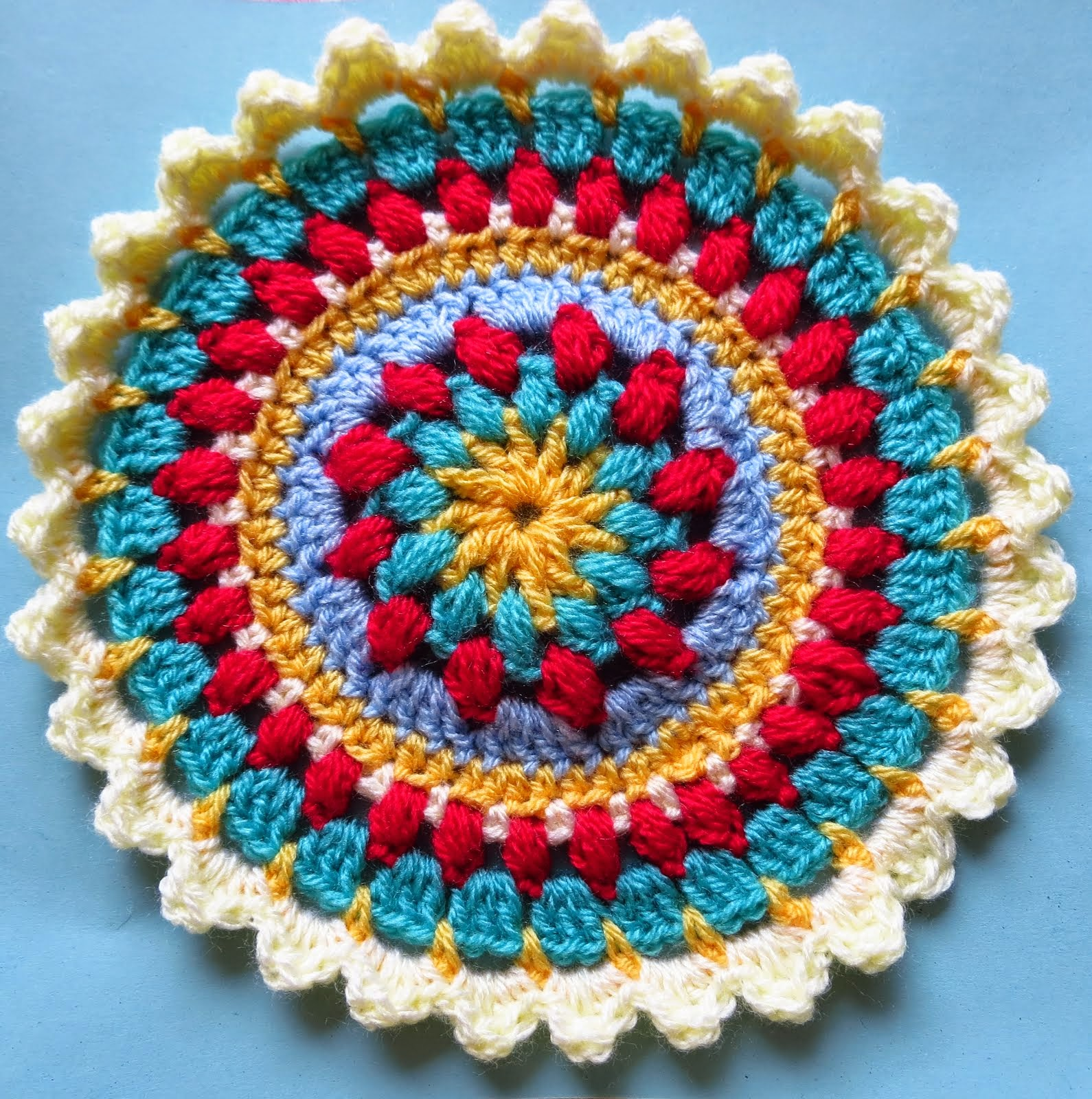 Petals and Puffs Mandala