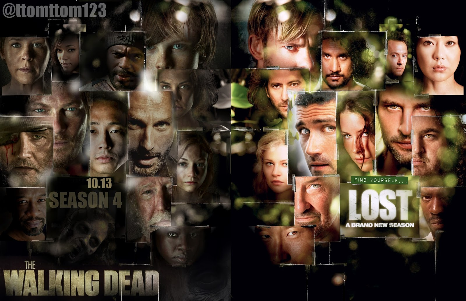 LOST vs The Walking Dead by Tomskee123