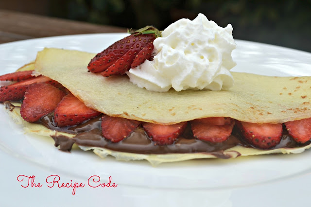 The Recipe Code: Strawberry and Nutella Crepes