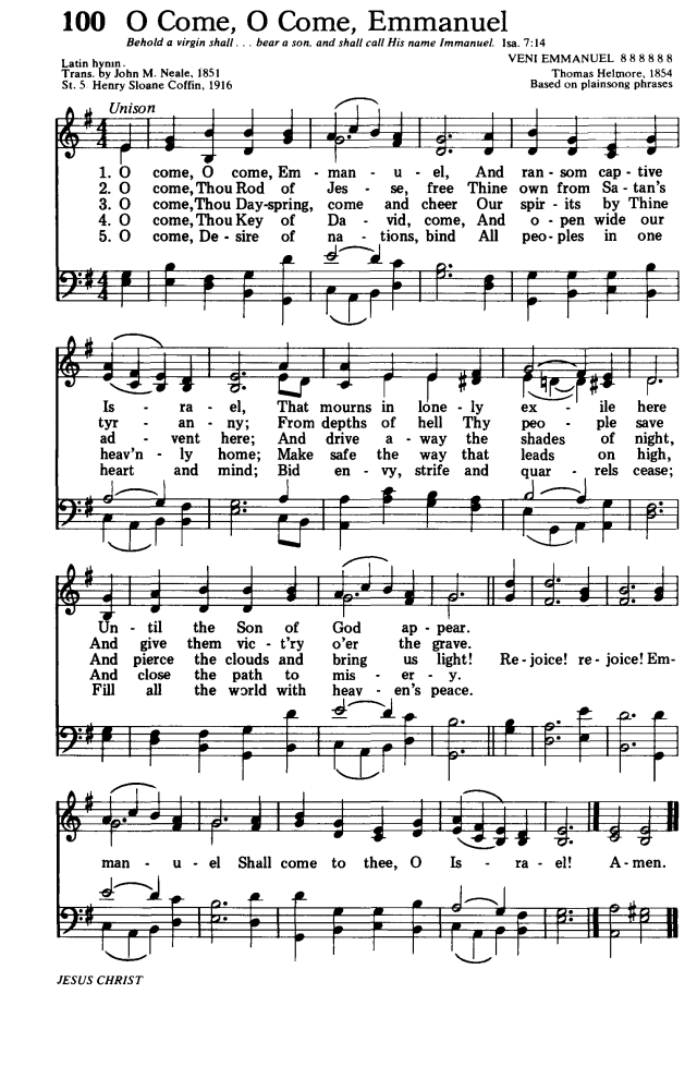 Songs of Praises: O Come, O Come, Emmanuel