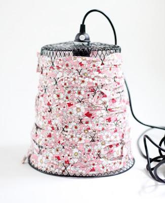 Il cestino diventa lampada