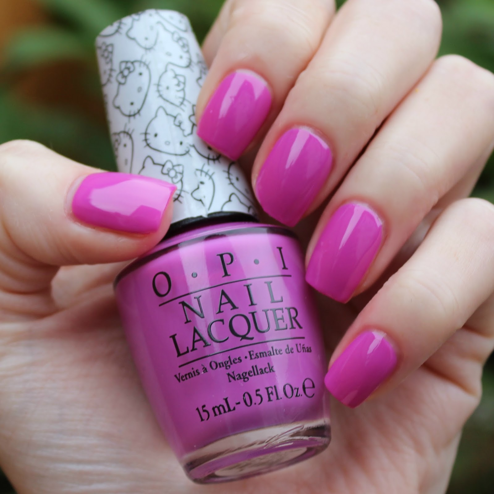 dahlia nails: opi hello kitty 2016 swatches & review