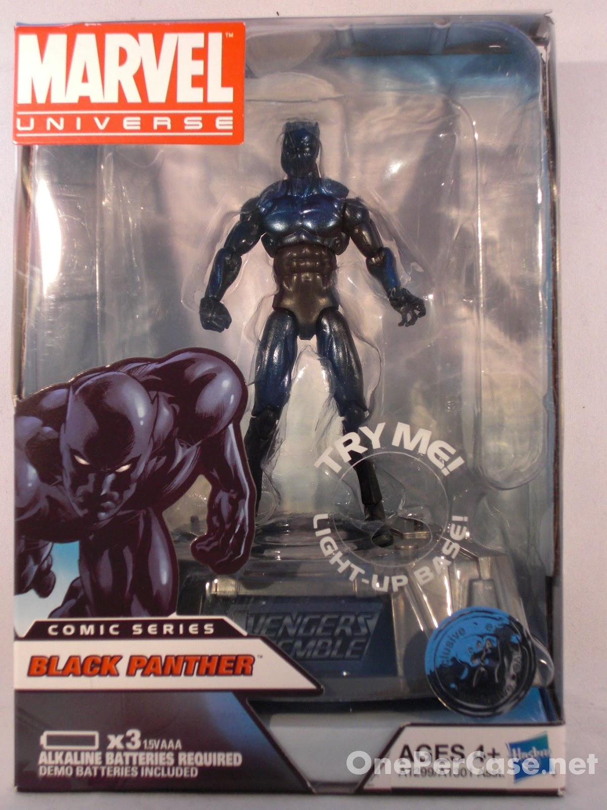 One Per Case: Marvel Universe Avengers Light-Up Base Wave 2 - Black Panther