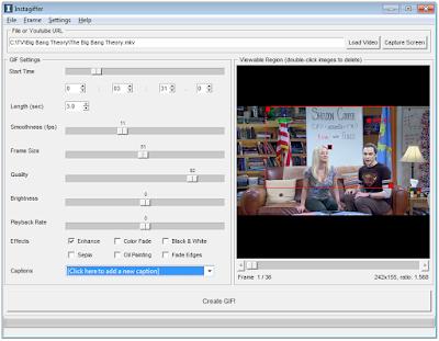 Instagiffer- aplicatie gratuita pentru a crea GIF-uri
