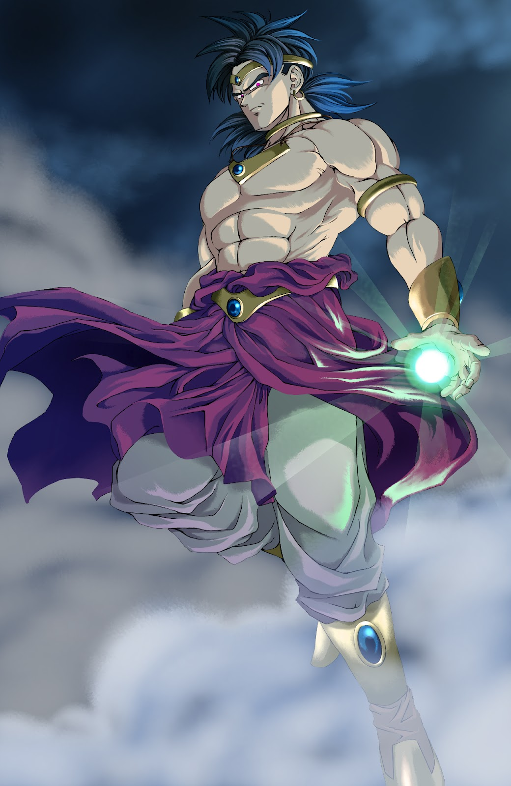 dragon ball z wallpapers broly restrained super saiyan