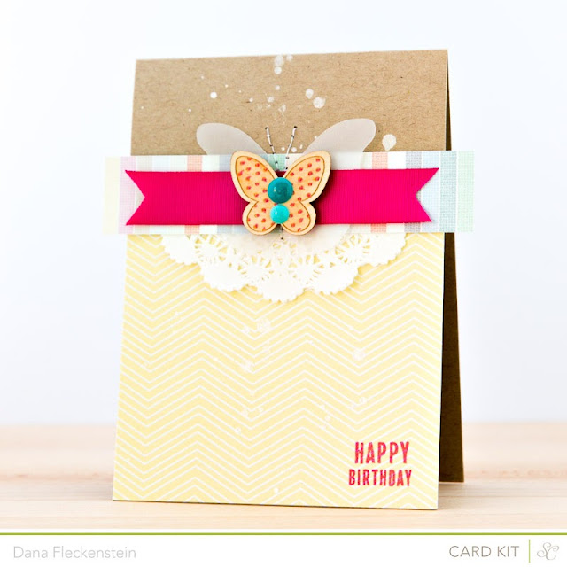 Handmade birthday card by @pixnglue using Studio Calico's Marks & Co Kit