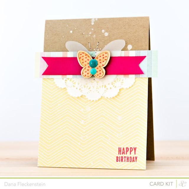 Handmade birthday card by @pixnglue using Studio Calico's Marks & Co Kit