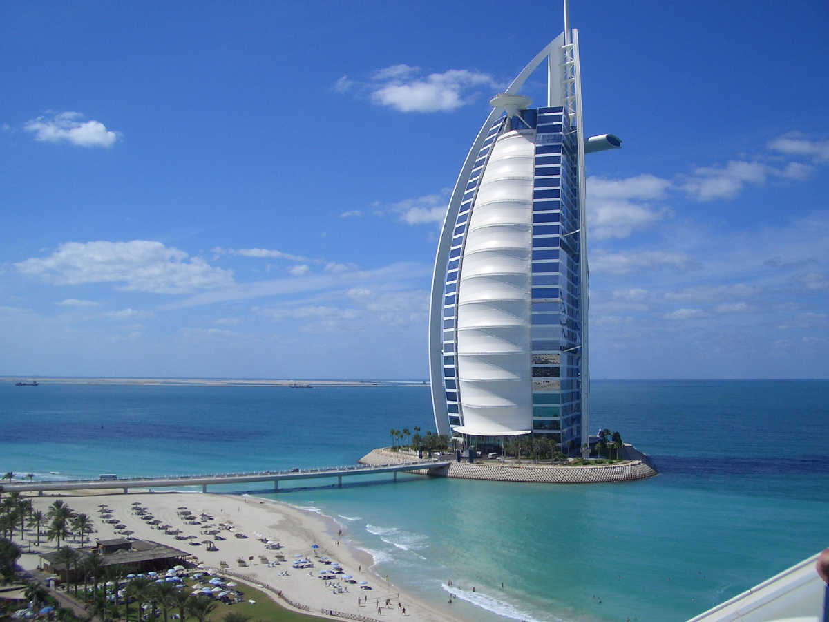 Burj al arab dubai tourist destinations for Al burj dubai