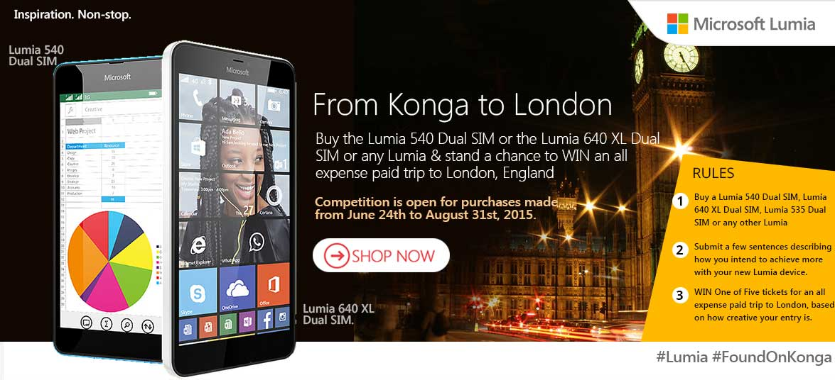 Buy a Lumia Phone for a trip to London