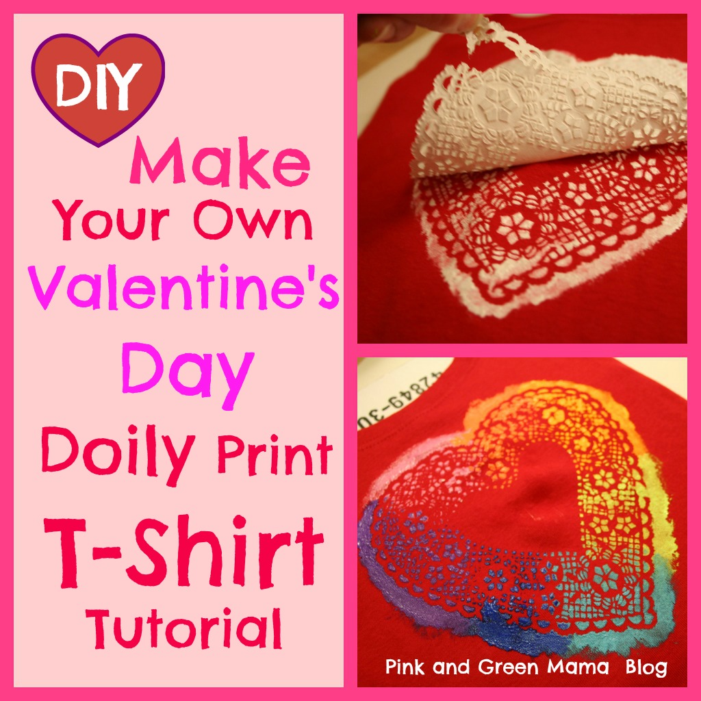 Pink and Green Mama: Easy DIY Valentine's Day T-Shirts!