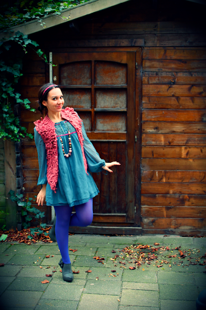 fashion, dress, fairytale, pink, blue, H&M, Accessorize, autumn