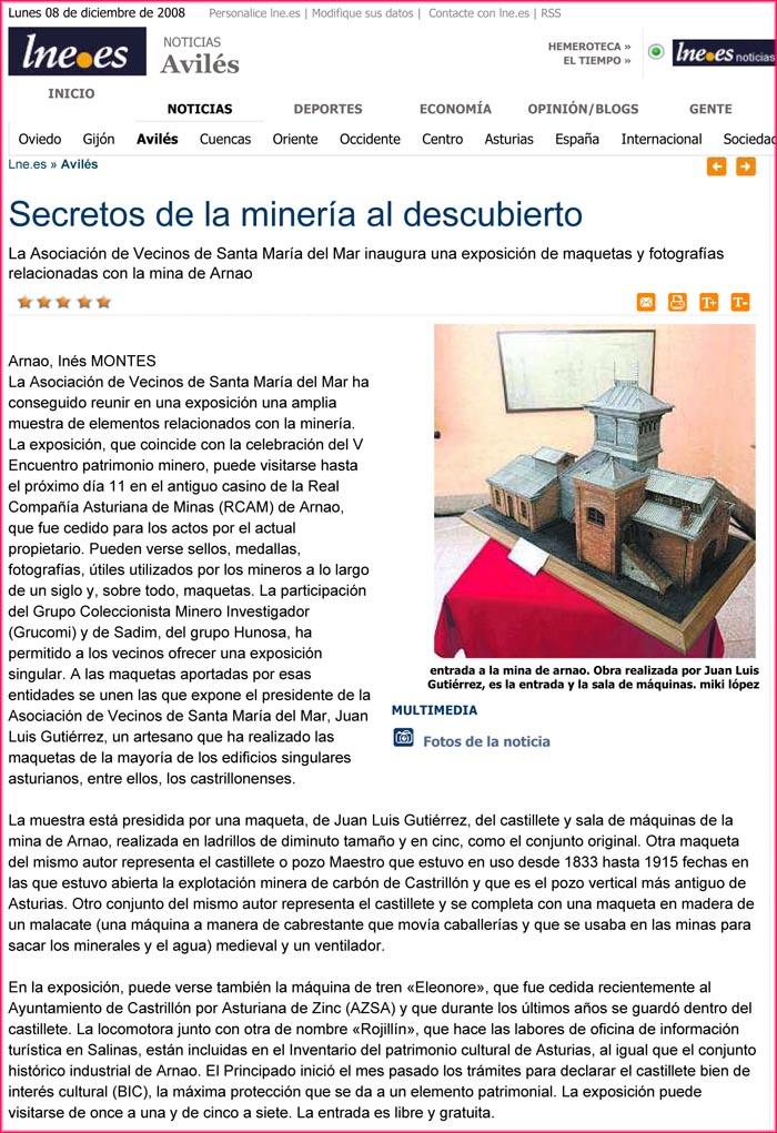 Exposición coleccionismo minero en Arnao