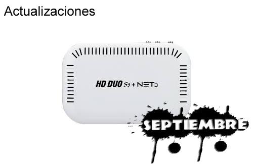 Actualización hd duo s3 09 Septiembre 2013