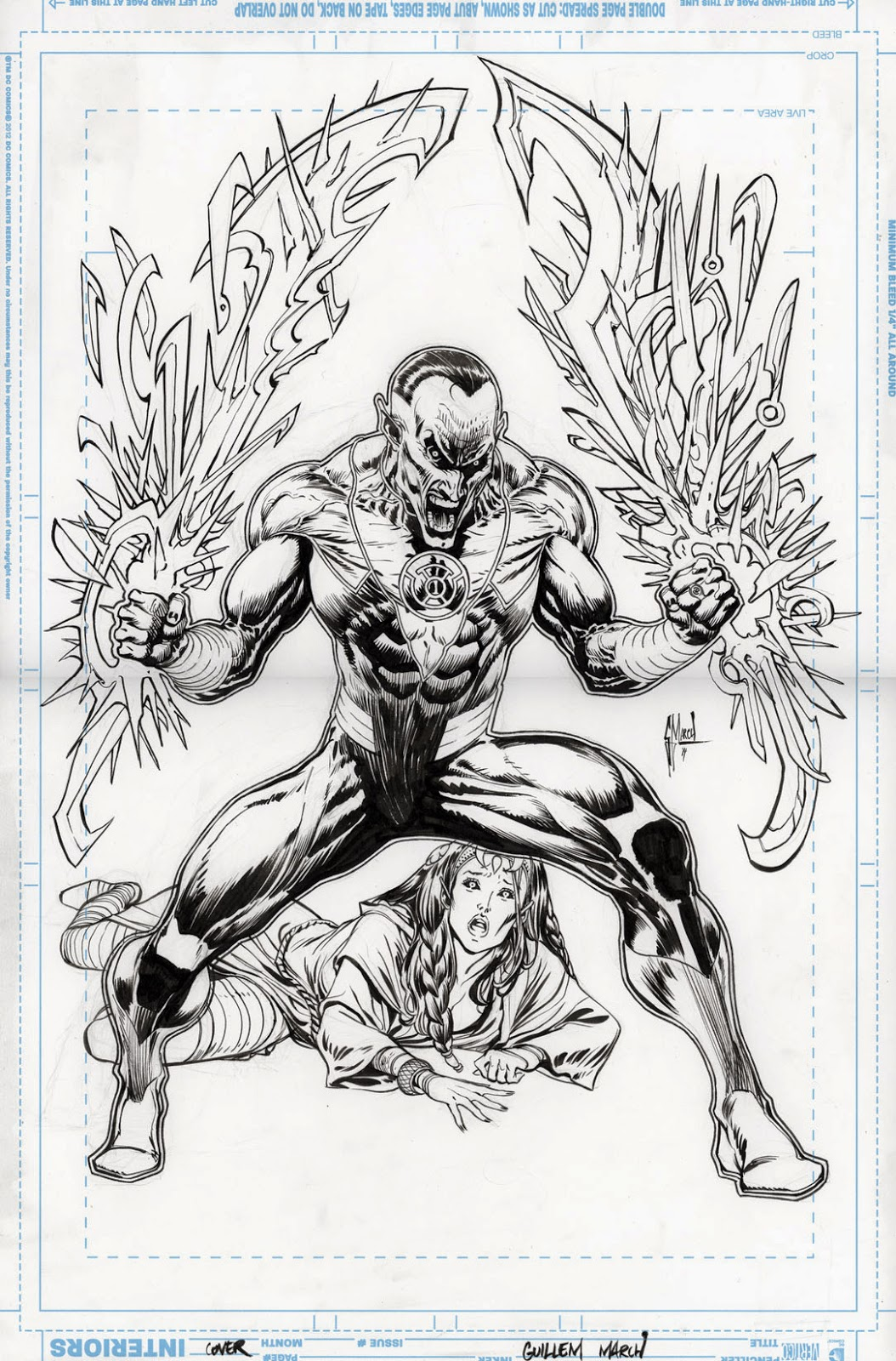 SINESTRO 6 cover process by Guillem March