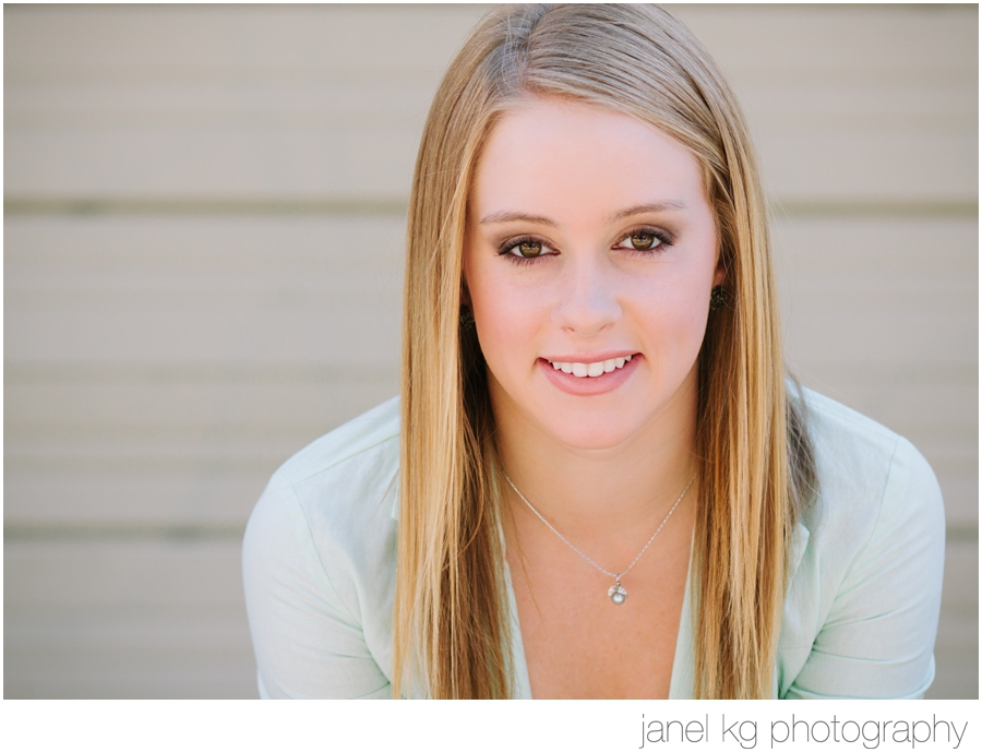 Audrey's sweet smile for her Sacramento senior portrait session with Janel KG Photography