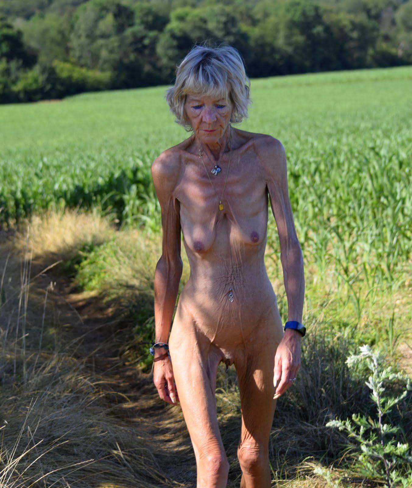 Annick à la campagne.
