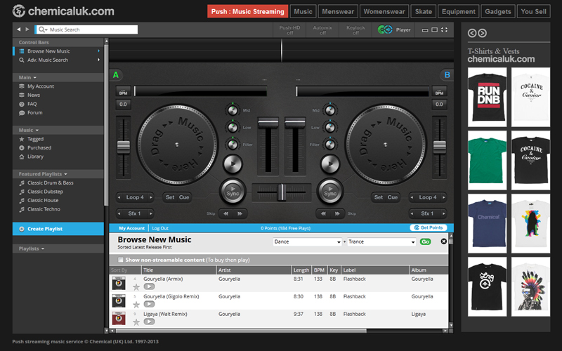 dj free online mixer