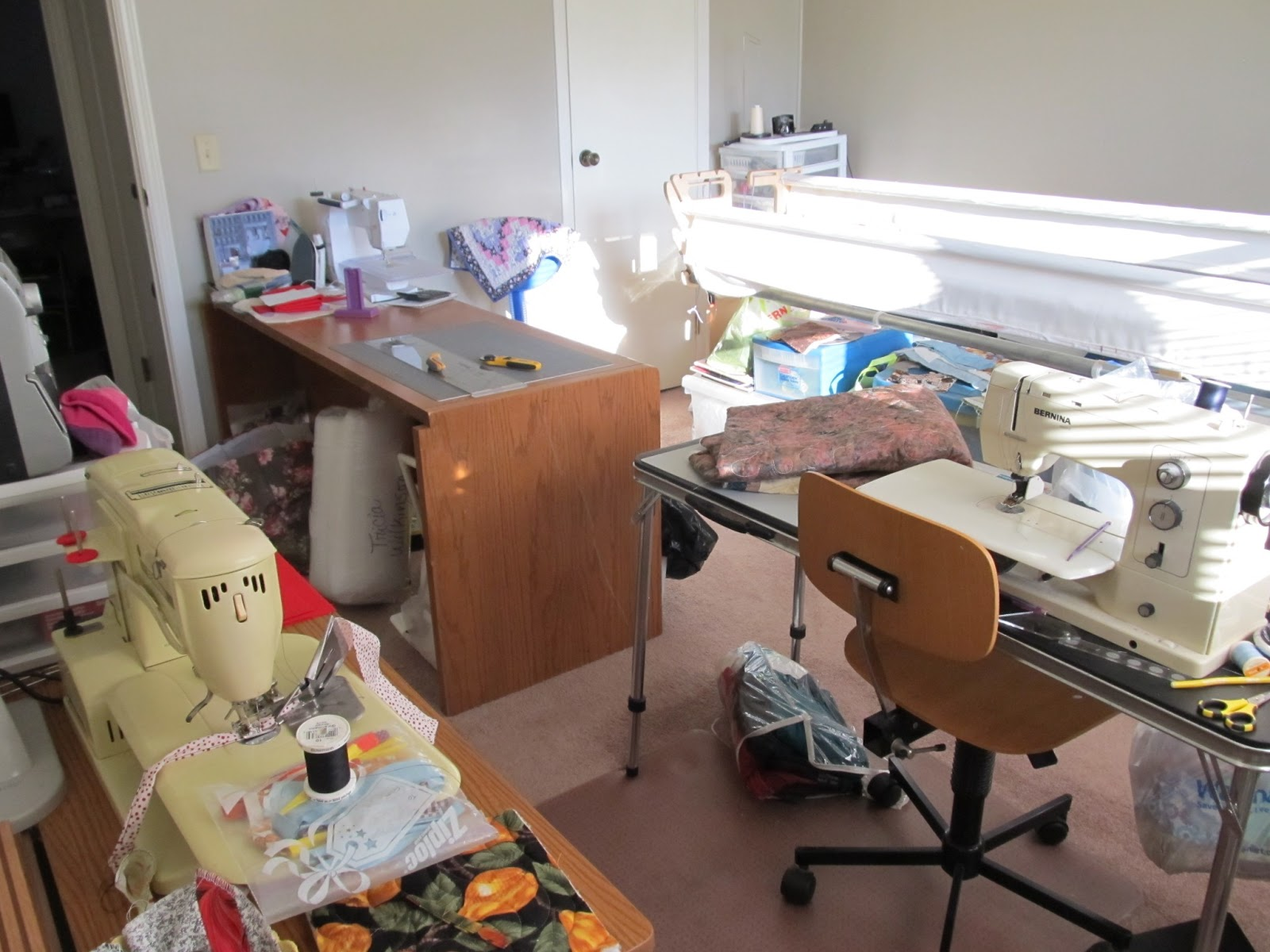 how to set up a quilting room