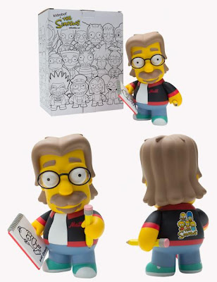 Kidrobot - The Simpsons x Kidrobot Matt Groening 6 Inch Vinyl Figure and Packaging