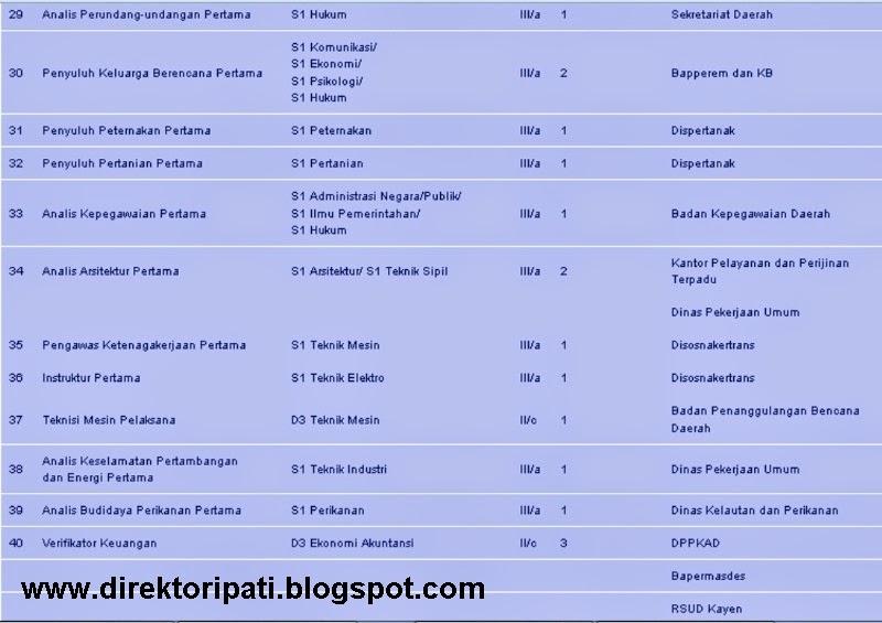 Inilah Formasi CPNS 2014 Kabupaten Pati