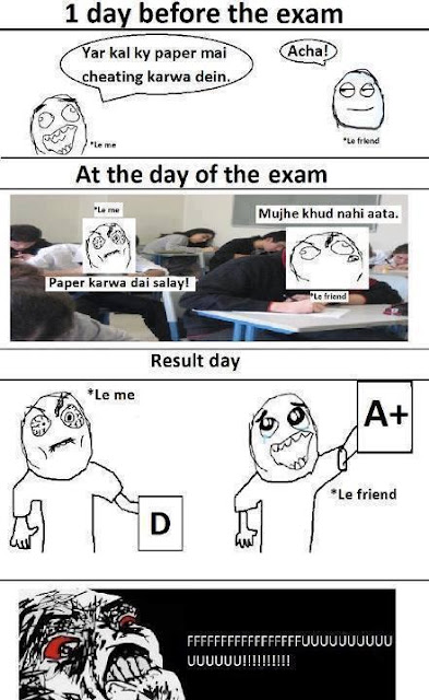 1 Day Before Exam Funny Wallpaper
