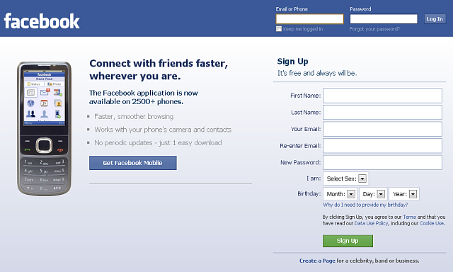 Facebook log in sign up my facebook account log in