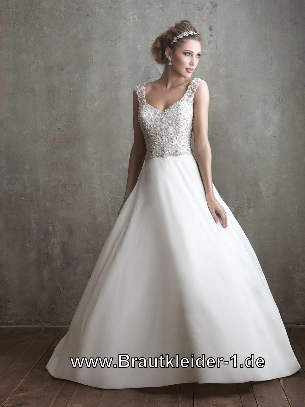 Brautkleider mit Schle...