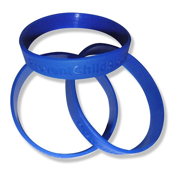 Child abuse prevention wrist bands you can buy at