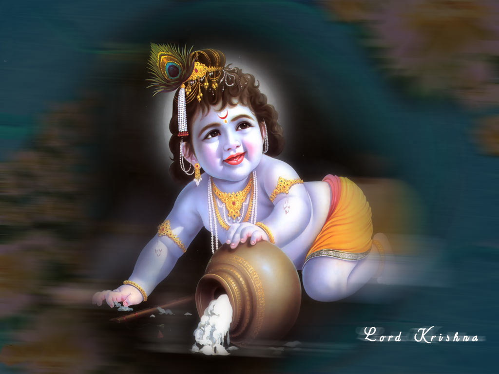 Black Background Lord Krishna Wallpapers