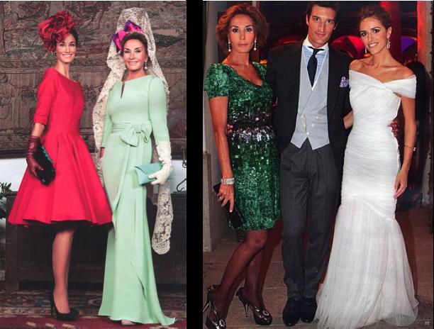 Naty Abascal vestida de Oscar de la Renta en la fiesta de la boda de su hijo