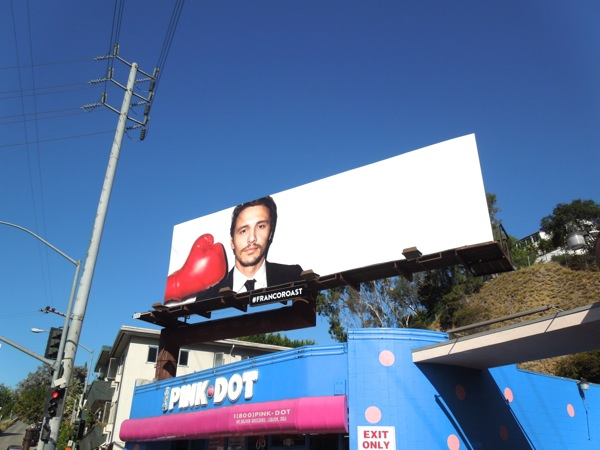 Franco Roast Comedy Central billboard Day 3