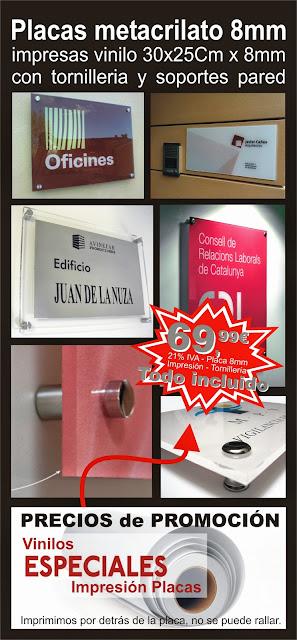 Placa Empresa-Placas entrada-Placas metacrilato-Rotulo entrada
