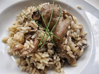 arroz de cogumelos