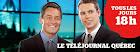 Téléjournal Québec avec Bruno Savard et Guillaume Dumas
